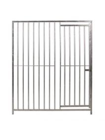 Frente Económico de barras con puerta boxes caninos