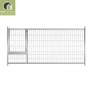 Frente malla con puerta de boxes para cachorros