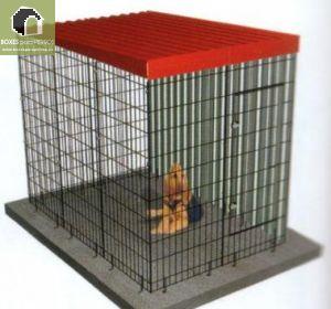 Jaula Modular para perros con lateral de chapa.  Medidas Frente 134; Fondo: 201; Alto:174