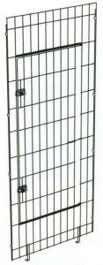 Elemento frontal con puerta de jaula modular para perros