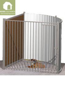 Box canino completo con frente de entrada giratoria